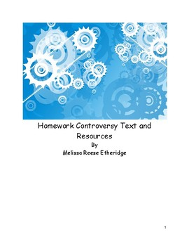 Homework Controversy: Text and Resources