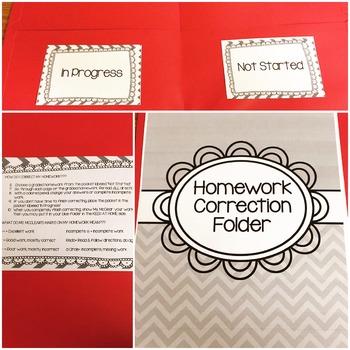 Homework Correction Folder