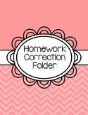 Homework Correction Folder FREE Cover