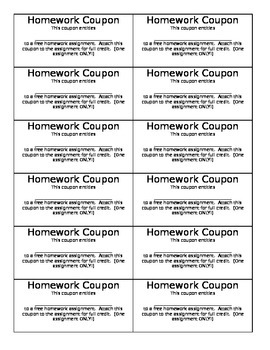 Homework Coupon