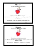 Homework Coupon for winning Valentine's Day Box