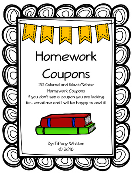 Homework Coupons