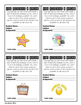 GIFT - Homework Coupons – Rewards, Incentives