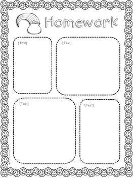 Homework Cover Pages - Monthly Themed {EDITABLE}