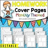 Homework Cover Sheets EDITABLE