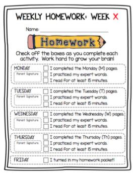 Homework Cover Sheet (English and Spanish)