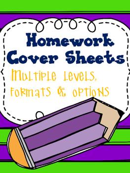 Homework Cover Sheets