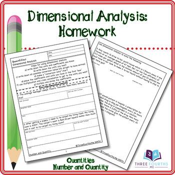 Homework: Dimensional Analysis