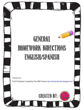 Homework Directions in English/Spanish