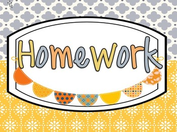 Homework Display Decor