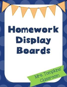 Homework Display Dry-Erase Boards