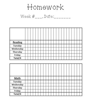 Homework Documentation for Grade in Kindergarten