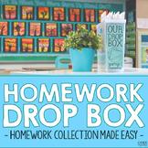 Homework Drop Box Labels