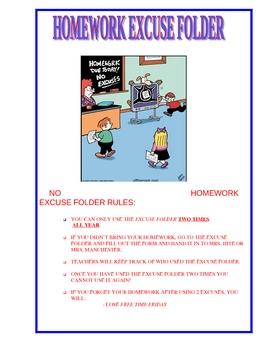 Homework Excuse Folder