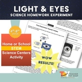 Light Energy and Parts of the Eye Science Activity | Dista
