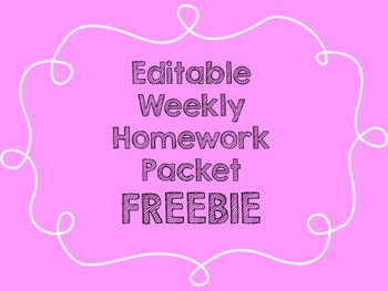 Homework {FREEBIE}