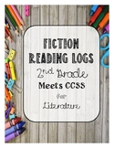 Homework *Fiction* Reading Logs for 2nd Grade *Editable*