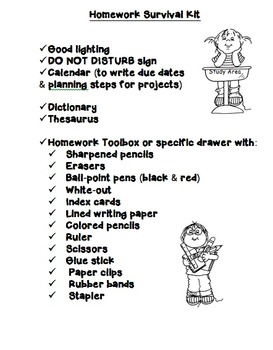An Organized Homework Plan