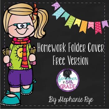 Homework Folder Cover