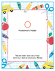 FREE! Homework Folder Cover