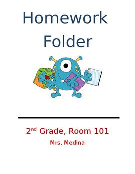 Homework Folder Cover Page