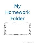 Homework Folder Cover Page Editable
