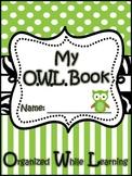 Homework Folder Cover Sheet