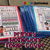 Homework Folder Cover Sheet for Primary Grades {Bilingual}