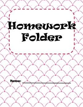 Homework Folder Covers