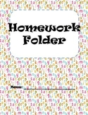 Homework Folder Covers