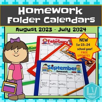 2019 Homework Folder Covers