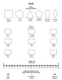 English/Spanish Homework Folder Insert Shapes, Colors, Number Line, Math symbols