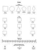 English/Spanish Homework Folder Insert Shapes, Colors, Num