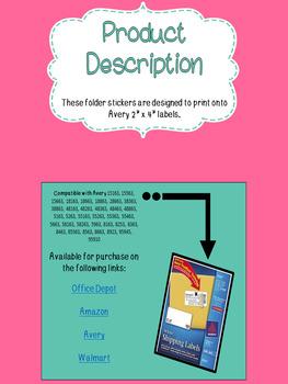 Homework Folder Kit