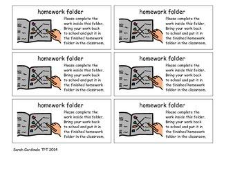 Homework Folder Label Mayer Johnson