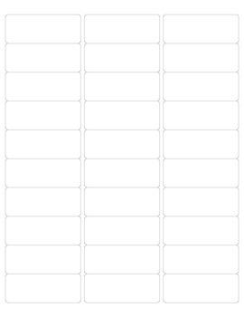 Homework Folder Label Template