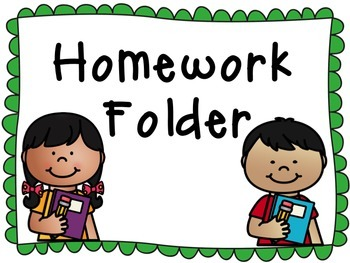 2x4 Homework Folder Labels