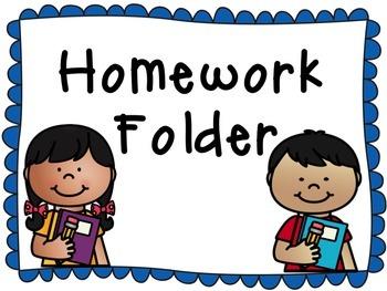 2x4 Homework Folder Labels