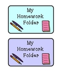 Homework Folder Labels!