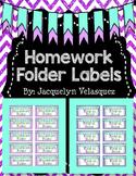 Homework Folder Labels Freebie