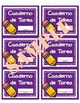 Homework Folder Labels in English & Spanish