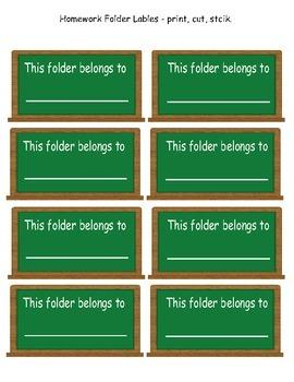 Folder Lables - FREE