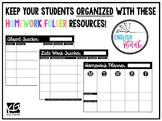 Homework Folder Pages (Planner Pages)