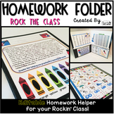 Homework Folder Editable - Rock-n-Roll Theme {Rock the Class}