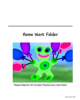Homework Folder Sticker