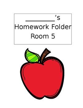 Homework Folder Template Editable