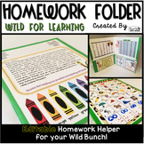 Homework Folder Editable - Jungle Safari Theme {Wild for L