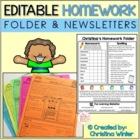 Homework Folder and Newsletter Template *EDITABLE*
