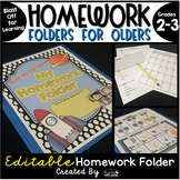 Homework Folder for Olders Editable - Space Theme {Blast O
