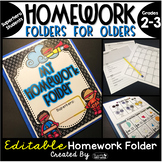 Homework Folder for Olders Editable - Superhero Theme {Sup